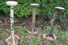 Rustic Bird Tables