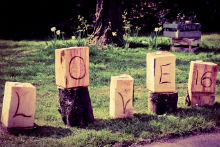 Rustic Carved Love Bloacks